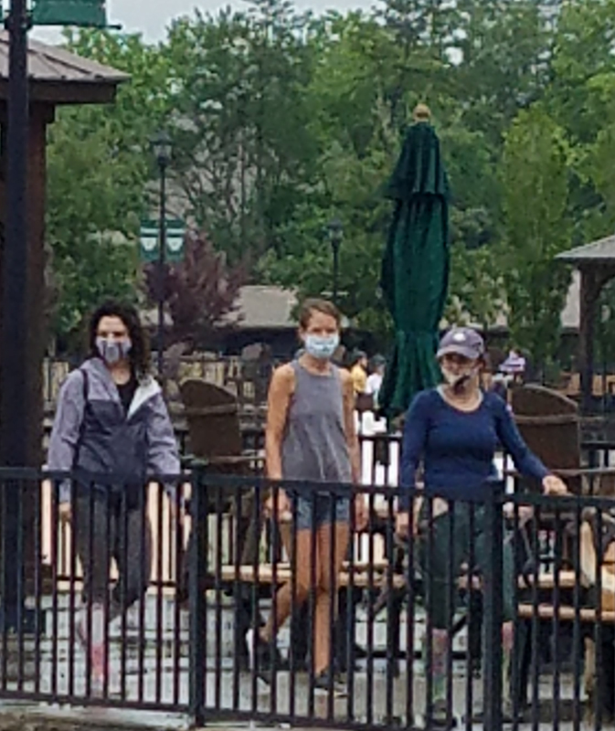 Everyone of the grounds are required to wear face masks.